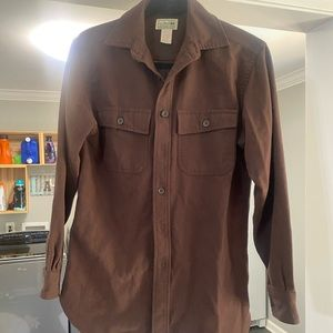 Chocolate brown llbean men's button down  XS